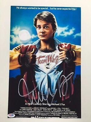 Michael J Fox Reprint Autographed Teen Wolf 11x17 Movie Poster