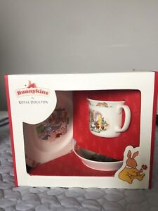Upopened Bunnykins by Royal Doulton 3-piece set
