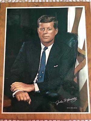 "Vintage John F Kennedy colored photo by Fabian Bachrach 11""x 14"""