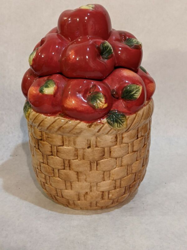 Apple Basket Ceramic Cookie Jar Canister by Alco Industries
