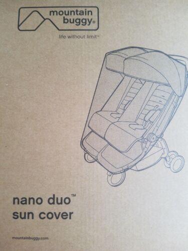 🔥 Mountain Buggy Nano Duo Stroller Black Mesh Sun Cover Baby 🔥