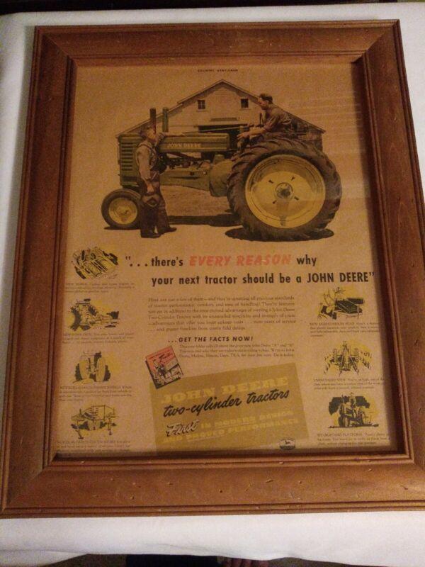 John Deere Vintage Framed