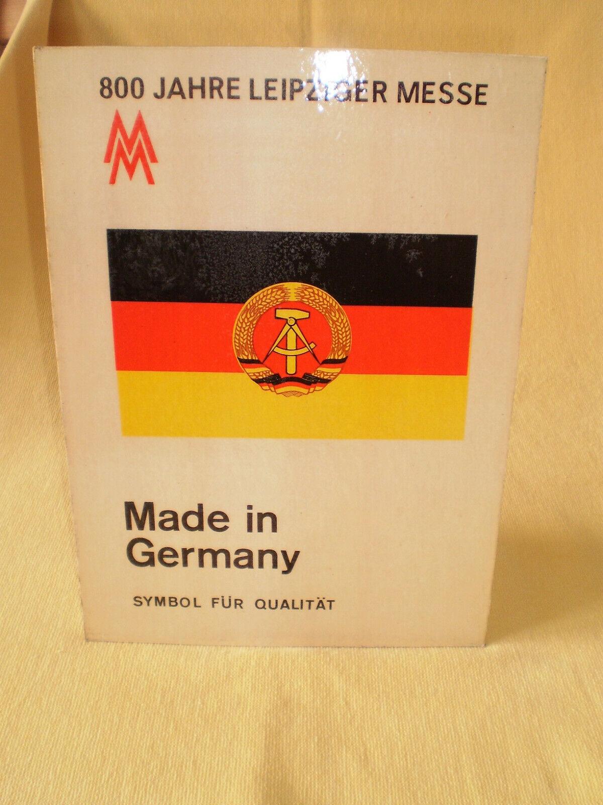 DDR 800 Jahre Leipziger Messe Werbung Schild Aufsteller 1965