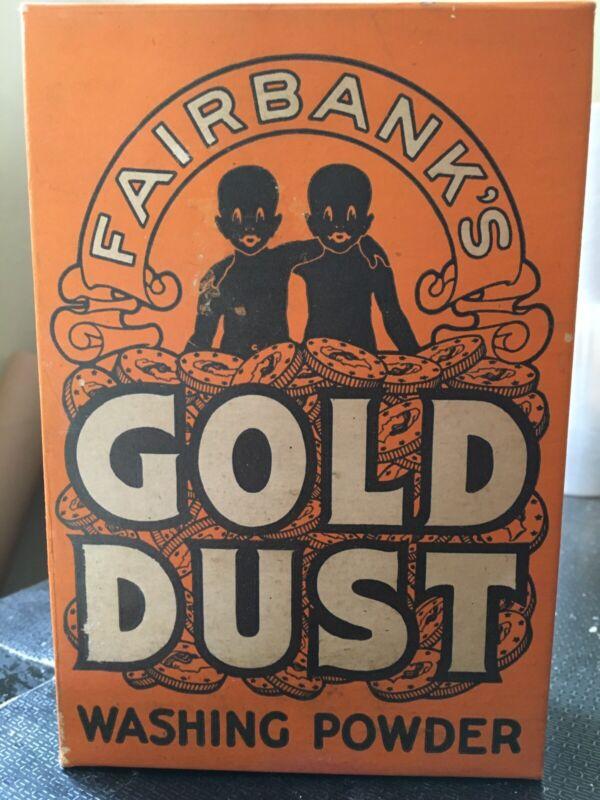 VINTAGE BLACK AMERICANA UNOPENED FAIRBANKS GOLD DUST TWINS WASHING POWDER 10oz