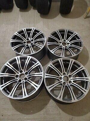 """GENUINE 19"""" BMW M3 Alloy Wheels 5x120 Staggered E91 E92 E93 E90 220M M-SPORT"""