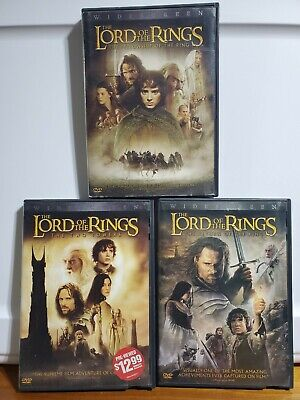 Lord of the Rings Trilogy - 3 DVD set Widescreen Edition with Special Features