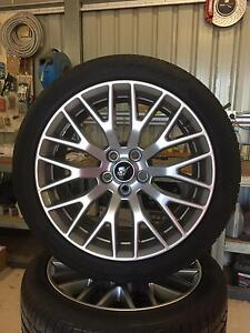 New 2015+ Mustang OEM Nickel Finish Alloy Wheels w Pirelli tyres Serpentine Serpentine Area Preview