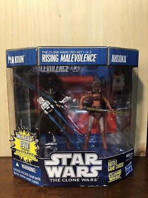 STAR WARS THE CLONE WARS 2-Pack RISING MALEVOLENCE DVD SET1 PLO KOON&AHSOKA TANO