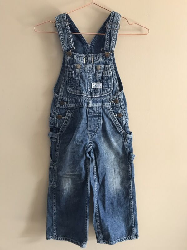 Trico Field Denim & Dungaree Unisex Pant Overalls Size 100(3T-4t)