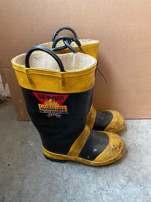 Vintage Servus Firefighter Firebreaker Boots Men's Size 7-1/2M Wide Steel Toe 02