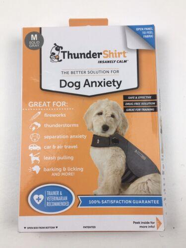 Thundershirt Dog Calm Vest Medium 26-40 Lbs Gray Anxiety Thunder Fireworks - $19.99