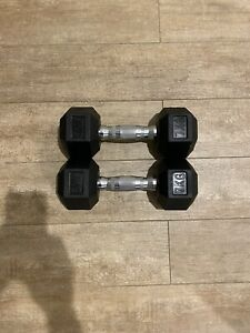 7kg hex dumbbells $70 for the pair