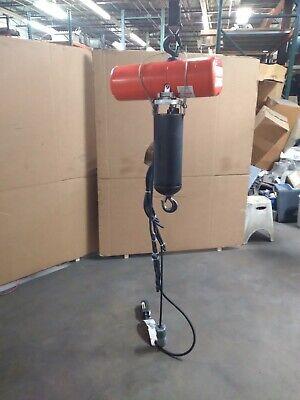 Cm Columbus Mckinnon Electric Chain Hoist Model F 1000lbs 12 Ton 170 Drop