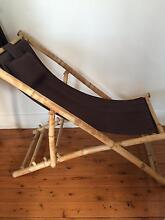 Two Awesome deck chairs great condition black and wood North Bondi Eastern Suburbs Preview