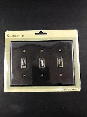 Rusticware Oil Rubbed Bronze - Rusticware: Triple Toggle Wall Switch Plate - Oil Rubbed BronzeORB789 New