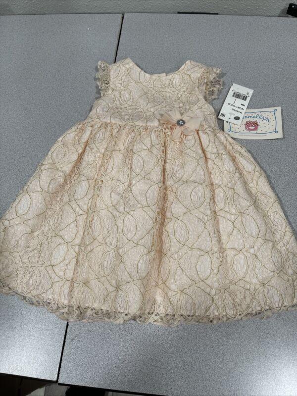 Marmellata Dress NWT 18 Months Ivory Gold Sparkles Sleeveless