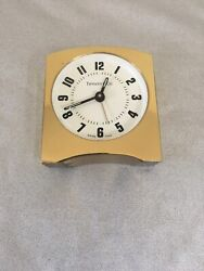 Tiffany & Co.Table & Desk Clock, Swiss Heavy Solid Brass