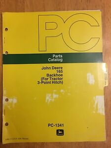 JOHN DEERE, PC 165 Backhoe (for Tractor 3-point hitch)