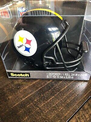 Scotch Nfl Pittsburgh Steelers Helmet Tape Dispenser 1 Tape 34 X 350