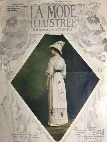 Edwardian MODE ILLUSTREE August 11,1912+ sewing PATTERN - Lingerie, Bridal