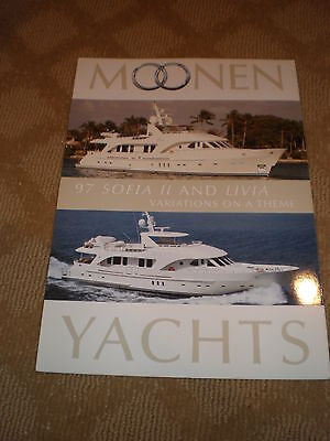 "MOONEN 97' ""SOFIA II"" and ""LIVIA"" COLOR MARKETING YACHT BROCHURE - MOTORYACHTS"
