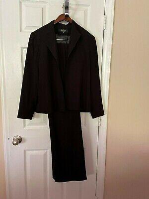 Womans Peck & Peck Black Pant Suit - Size 12
