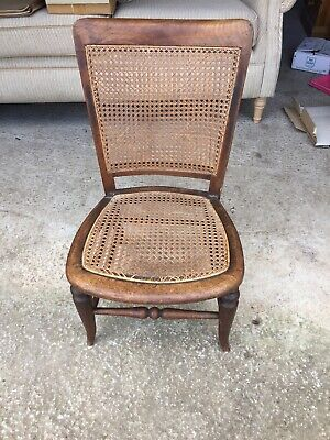 Vintage Antique Decorative Bereger Rattan  Chair Seat Needs Doing  11/5/K/LB