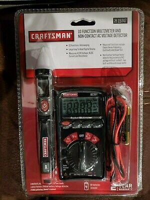 Craftsman 10 Function Digital Multimeter Voltage Detector Kit 34-19747