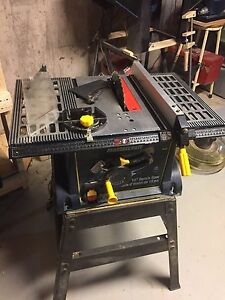 "mastercraft 10"" Table saw, with stand!deliver can arrange"