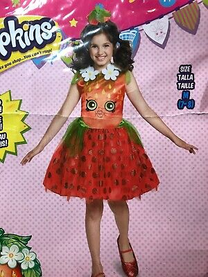 Girl's Shopkins Strawberry Kiss Fruit Character Dress Costume Medium 7-8