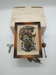 VINTAGE Linden Hummel Wind Up Pendulum Clock w Original Box, Receipt & Key WORKS