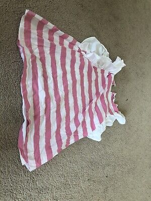 Baby Girls iL Gufo Size 2 Years Old Pink And White Striped Dress