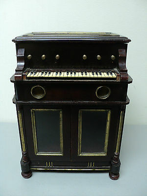 19th C. Wooden Organ Form Music Box Tantalus, Case Only