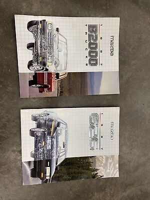 Vintage Mazda 1987 626 B2000 Truck Car Sales Brochure Book Advertising