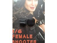 VERYCOOL Female Shooter Black Ver Pouches x 2 /& Buckle loose 1//6th scale
