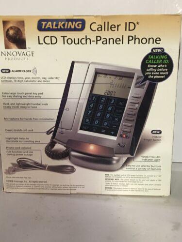 Talking Caller ID LCD Touch-Panel Landline Phone  Silver/Gra