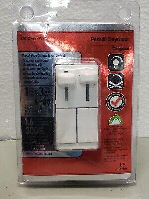 Legrand Pass Seymour Lsdc163pwv De-hummer Fan Control Dimmer White Free Shipping