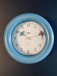 Alessi Collectables Graves Kitchen Wall Clock in Blue - RARE
