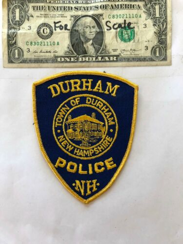 Durham New Hampshire Police Patch un-sewn in mint shape