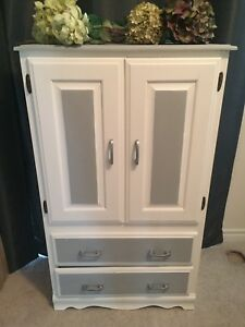 Shabby Chic Solid Wood Pine Armoire