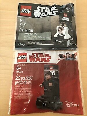 Lot of 2 LEGO Star Wars 40298 DJ and 40268 R3-M2 Polybag Set New Sealed