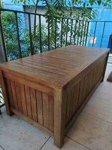 Timber Outdoor Storage Bench