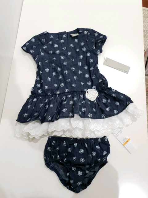 d49cc5938 Calvin Klein baby girl 2 piece set - dress and bloomers BNWT | Baby ...