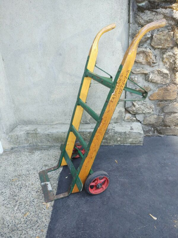 Antique/Vintage Fairbanks Hand Truck Dolly Wood And Iron Excellent Condition!