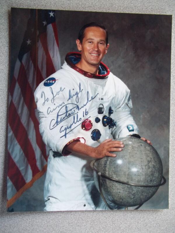 Charles Duke Apollo 16 Autographed Photo