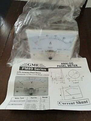 Gme Dc 0 100a Analog Amp Current Needle Panel Meter Ammeter Pm89