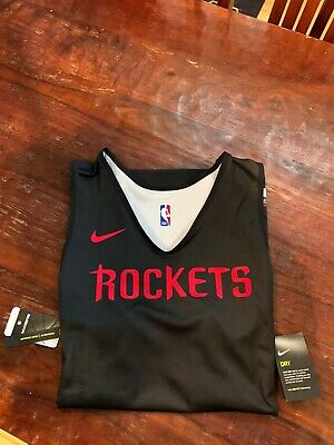 Houston Rockets Nike NBA Reversible Practice Jersey AUTHENTIC XL Tall 52