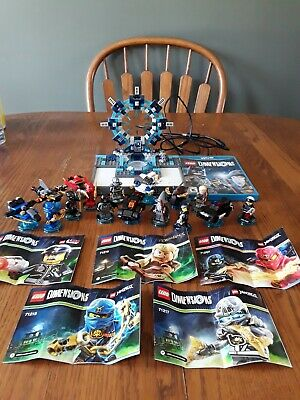 Lego Dimensions Wii U Lot Game Portal Disc 9 Minifigures 6 Vehicles Lot