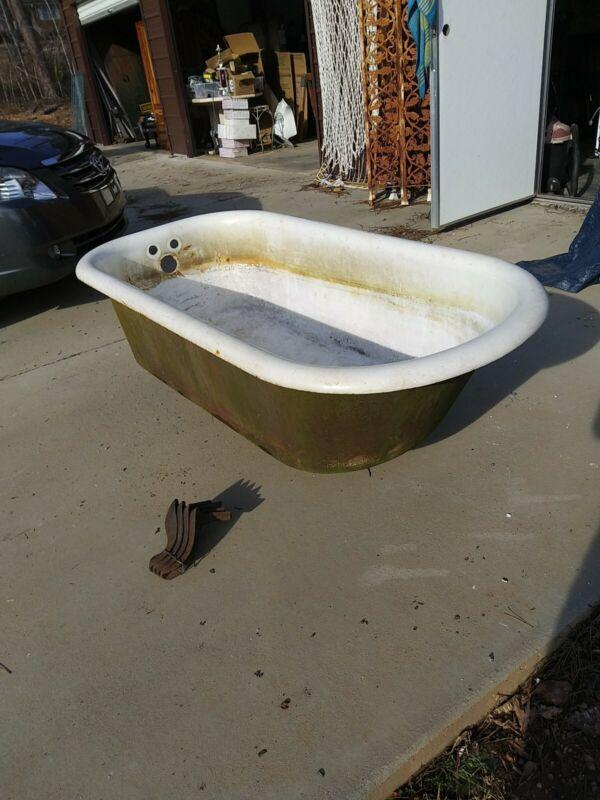 Antique Vintage Cast Iron Bathtub