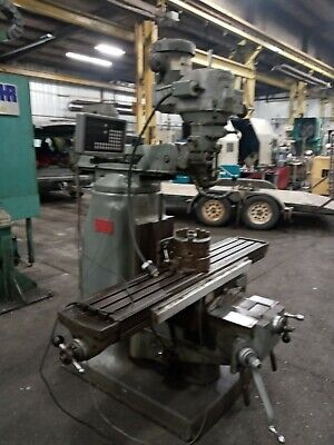 Bridgeport Series Ii Special With Shaper Broach Attachment And Dro Very Nice.